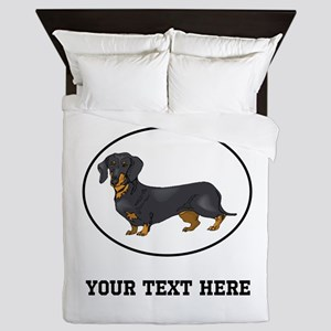 Custom Dachshund Queen Duvet